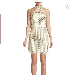 Alice and olivia maddie studded leather dress